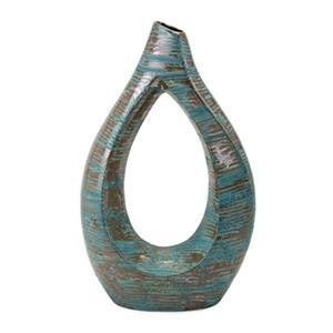 IMAX Worldwide Nehum 25-in x 15-in Green Oversized Vase