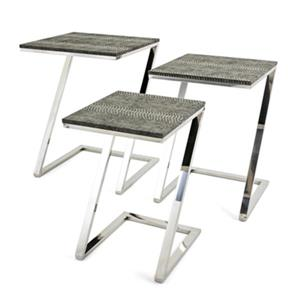 IMAX Worldwide Melora Stainless Steel Tables (Set of 3)