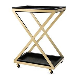 IMAX Worldwide 15.75-in x 21.75-in Marla Stainless Steel Bar Cart