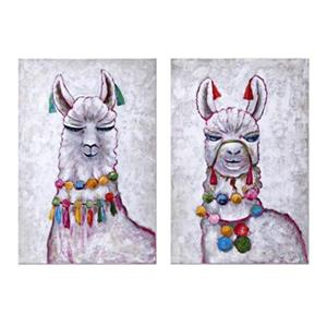 IMAX Worldwide 30-in x 20-in Llama Party Oil Painting