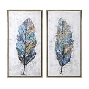 IMAX Worldwide 41.75-in x 21.75-in Foliage Framed Oil Painting (Set of 2)