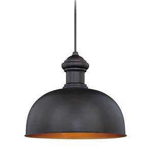 Cascadia Franklin 1-Light Bronze Gold Farmhouse Outdoor Barn Pendant light