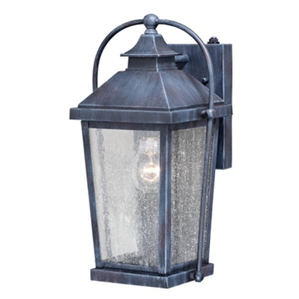 Cascadia Lexington 1-Light Dusk to Dawn Black Rectangle Outdoor Wall Light