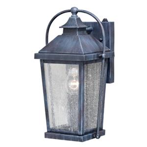 Cascadia Lexington 1-Light Dusk to Dawn Black Rectangle Outdoor Wall Light