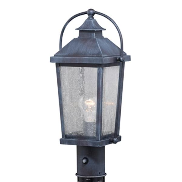 Cascadia Lexington 1-Light Dusk to Dawn Black Outdoor Post Light