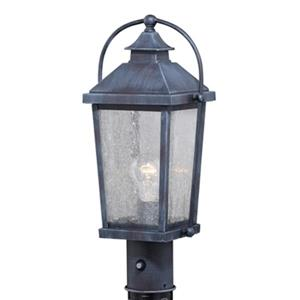Cascadia Lexington 1-Light Dusk to Dawn Black Outdoor Post Light