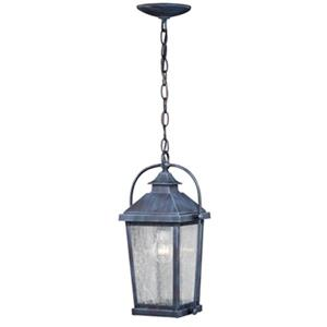 Cascadia Lexington 1-Light Black Outdoor Pendant Clear Glass Light