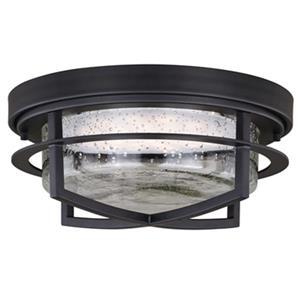 Cascadia Logan 13-in LED Bronze Outdoor Flush Mount Ceiling Light