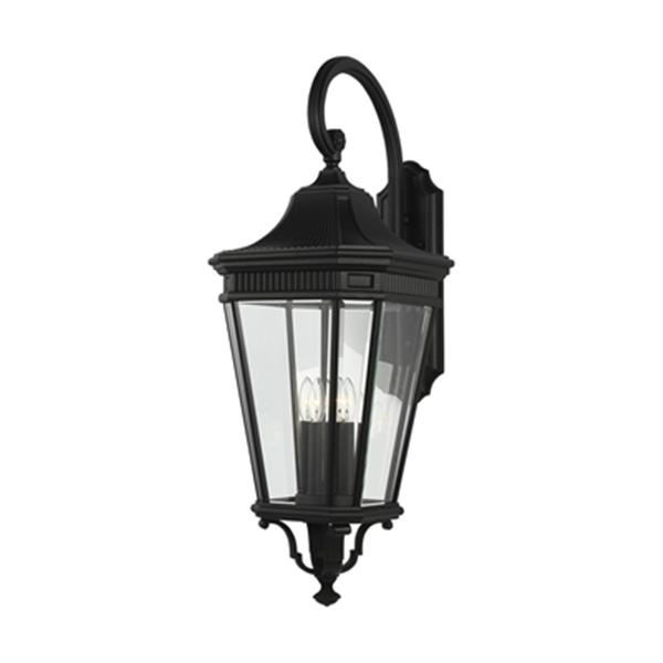 Feiss Cotswold Lane 4-Light Grecian Black Sconce