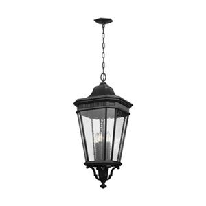 Feiss Cotswold Lane Collection 13.62-in x 31-in Black 4-Light Lantern Pendant Light
