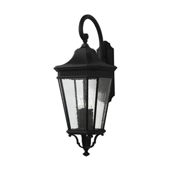 Feiss Cotswold Lane 4-Light Black Wall Lantern