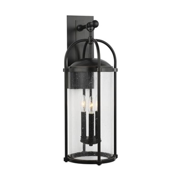 Feiss Dakota 3-Light Espresso Outdoor Wall Lantern