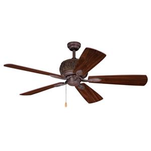Cascadia Alpine 52-in Bronze Rustic Wood Outdoor Ceiling Fan