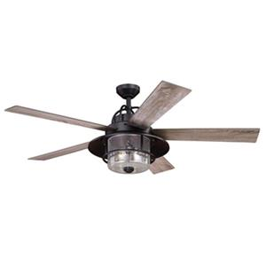 Cascadia Lighting Charleston 56-in Driftwood/Dark Maple Ceiling Fan
