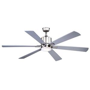 Cascadia Lighting Wheelock 60-in Maple/Silver Ceiling Fan