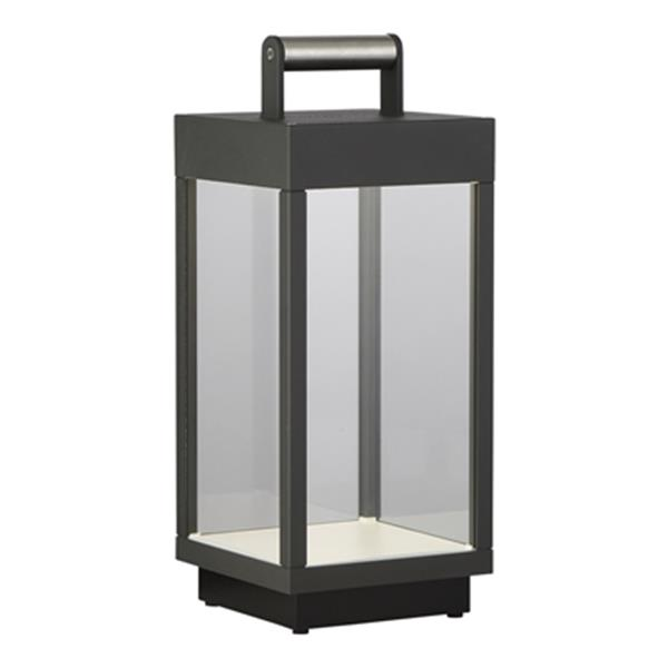 Eurofase Graphite Grey Portable Outdoor RGB LED Lantern with Bluetooth Speaker
