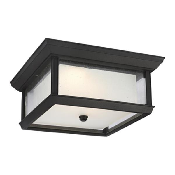 Feiss McHenry Black 2-Light  Outdoor LED Flush Mount