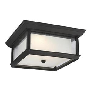 Feiss McHenry Black 2-Light  Outdoor LED Flush Mount