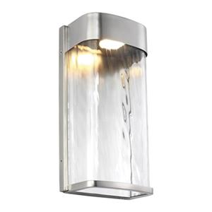 Feiss Bennie Brushed Steel Outdoor Medium LED Wall Sconce.