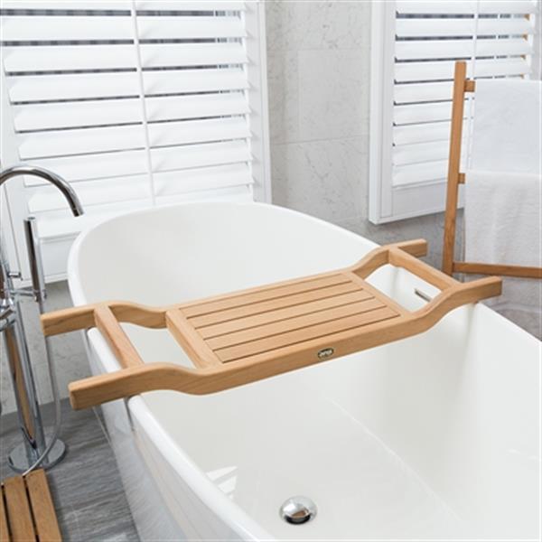 "Coach Bathtub Caddy Seat - 34.5"" - Teak - Natural Wood"