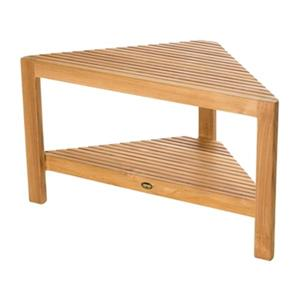 Fiji Corner Shower Bench with Shelf - 18