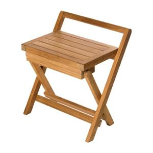 Folding Shower Bench with Handle - 17