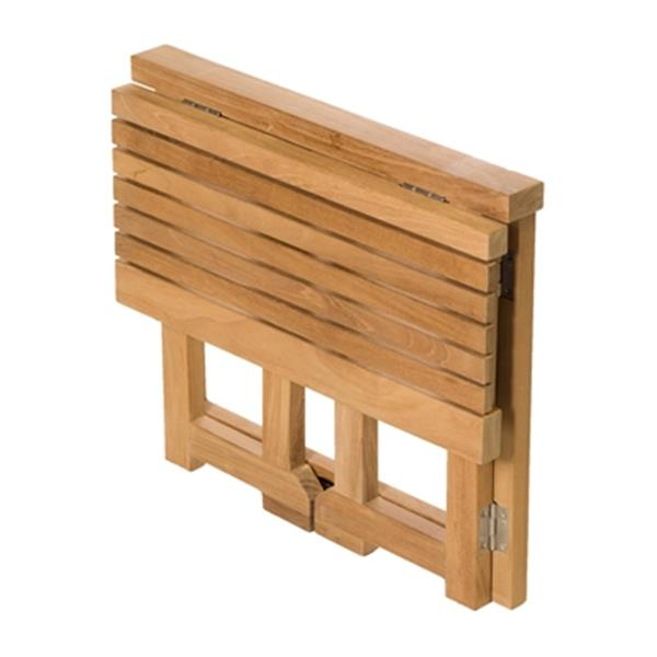 "Folding Gateleg Shower Bench - 18"" - Teak - Brown"
