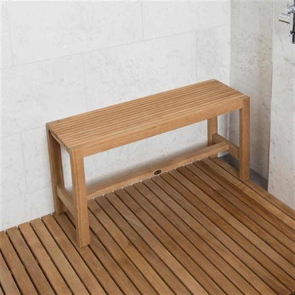 "ARB Teak & Specialties Fiji Shower Bench - 18"" - Teak - Brown"
