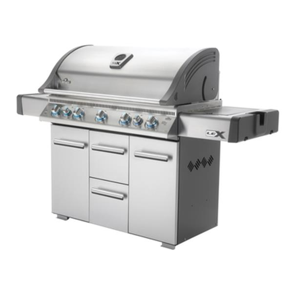 Napoleon LEX 730 (80,000 BTU) Propane Gas Grill with Side Burner and Infrared Bottom and Rear Burners
