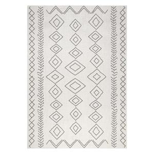 nuLOOM Serna 6-ft x 9-ft Cream Outdoor Rug