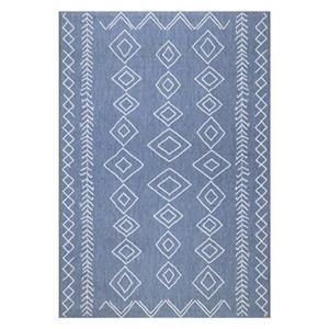 nuLOOM Kandace 6-ft x 9-ft Blue Outdoor Rug