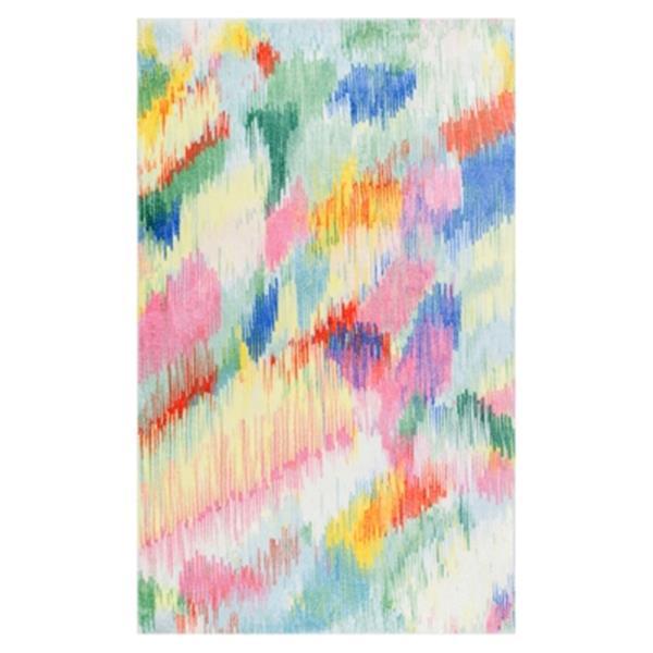 nuLOOM Surreal Canvas Raye Shaggy 6-ft Round Multicolour Kids Area Rug