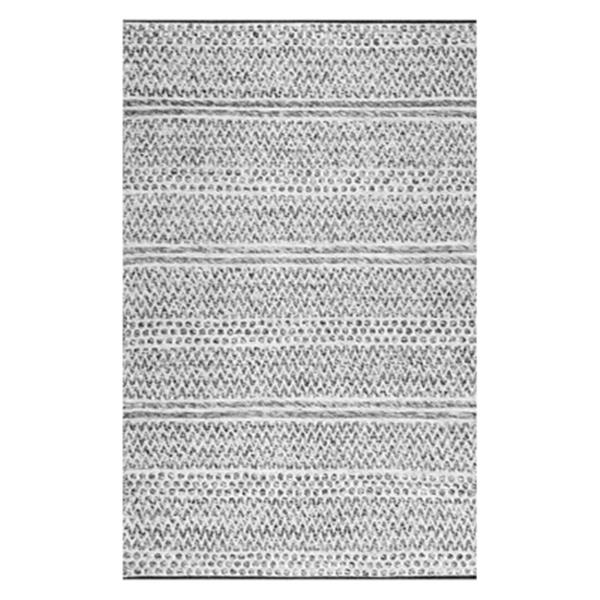 nuLOOM Natosha Chevron 4-ft x 6-ft Grey Indoor/Outdoor Rug