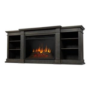 Real Flame Eliot Grand 34.25-in x 81.12-in Grey Entertainment Center Electric Fireplace