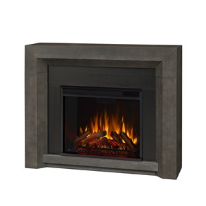 "Real Flame Hughes Electric Fireplace - 35"" x 42"" - 4 700 BTUs - Grey"