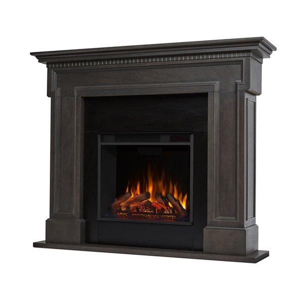 """Foyer électrique Thayer de Real Flame, 13"""" x 44,88"""" x 54,38"""", gris foncé"""