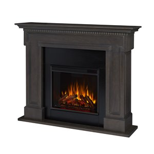 "Real Flame Thayer Electric Fireplace - 13"" x 45"" - Grey"