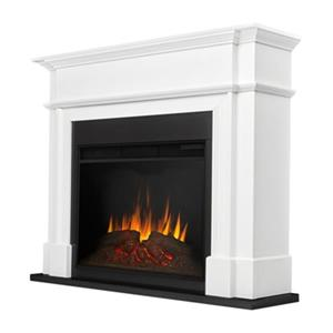 Real Flame Harlan Grand 44.12-in x 55.12-in White Electric Fireplace