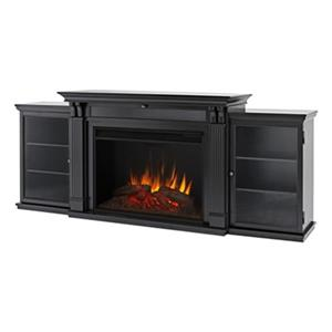 Real Flame Tracey Electric Fireplace with open storage - 5 100 BTUs - Black
