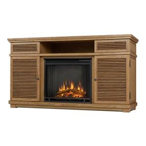 Real Flame Cavallo 32.25-in x 58.81-in Brown Entertainment Center Electric Fireplace