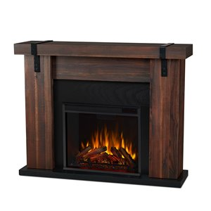 Real Flame Aspen 38.19-in x 48.50-in Brown Barnwood Electric Fireplace
