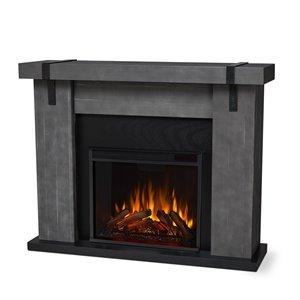 Foyer électrique Aspen de Real Flame, 38,19 po x 48,5 po, gris
