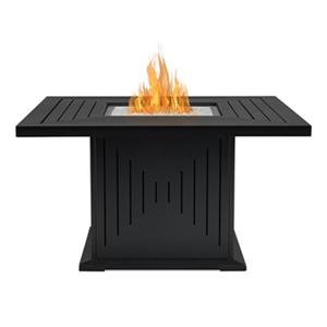 Real Flame Cavalier Square Liquid Propane Fire Table