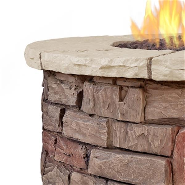 Real Flame Sedona Round Liquid Propane Fire Table