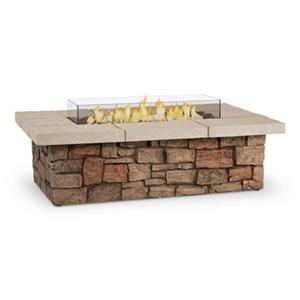 Real Flame Sedona 52-in Rectangular Liquid Propane Fire Table