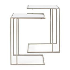 IMAX Worldwide Harrison Stainless Steel Accent Tables (Set of 2)