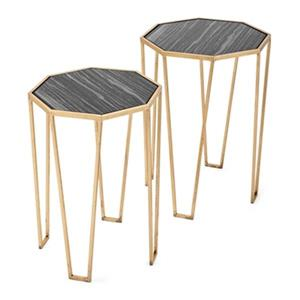 IMAX Worldwide Lawson Gold Accent Tables (Set of 2)