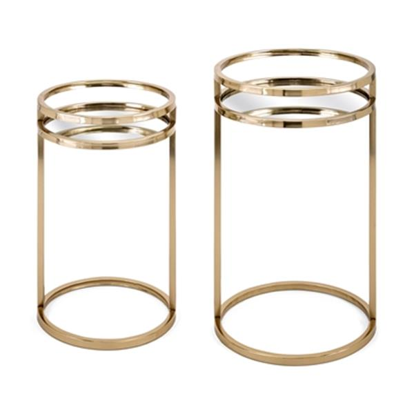 IMAX Worldwide Dylan Gold Accent Tables (Set of 2)