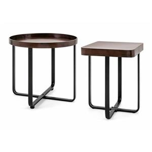 IMAX Worldwide Hopkin Brown Accent Tables (Set of 2)