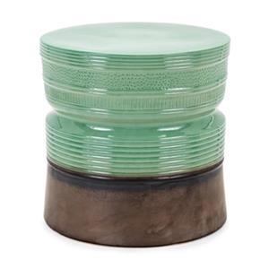 IMAX Worldwide Jaden 19.00-in x 19.00-in Green Ceramic Side Table